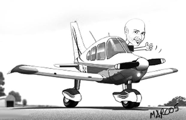 caricatura flavio aviao