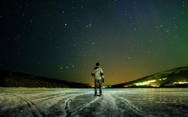 man-frosty-starry-night